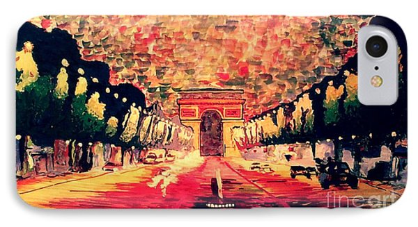 Champs-elysee  IPhone Case by Moscolexy Moscolexy