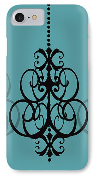 IPhone Case featuring the photograph Chandelier Delight 1- Blue Background by KayeCee Spain