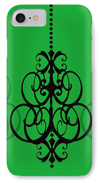 IPhone Case featuring the photograph Chandelier Delight 1- Green Background by KayeCee Spain