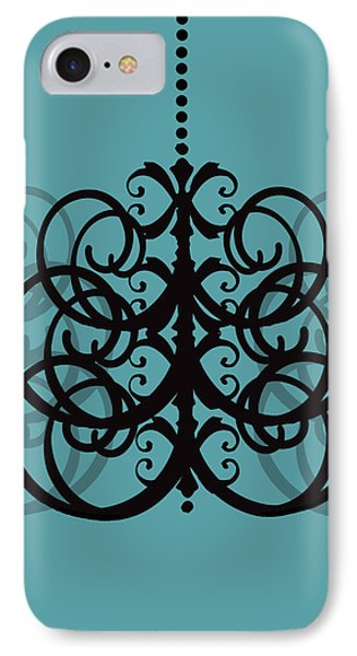 IPhone Case featuring the photograph Chandelier Delight 2- Blue Background by KayeCee Spain