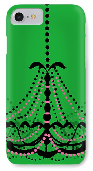IPhone Case featuring the photograph Chandelier Delight 3- Green Background by KayeCee Spain