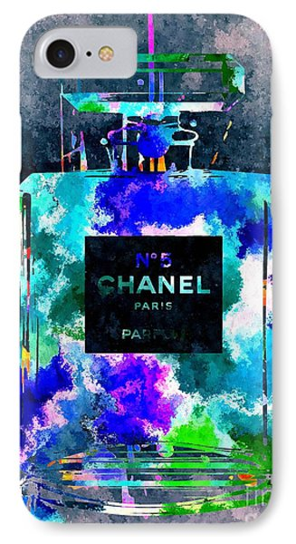 Chanel No 5 Dark Grunge IPhone Case by Daniel Janda