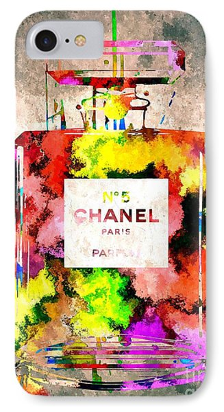 Chanel No 5 Grunge IPhone Case by Daniel Janda