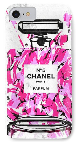 Chanel No. 5 Pink Army Phone Case by Daniel Janda
