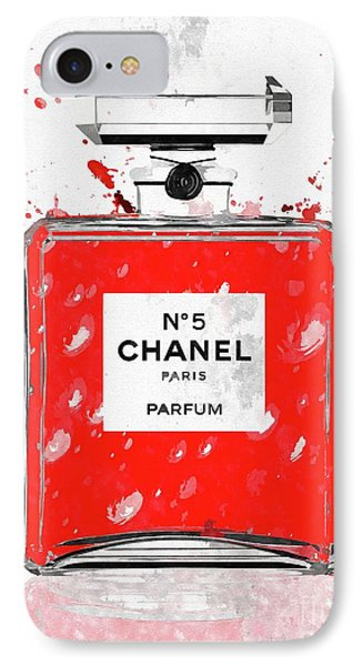 Chanel No 5 Red IPhone Case