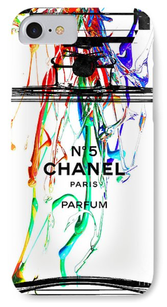 Chanel No. 5 Watercolor IPhone Case by Daniel Janda
