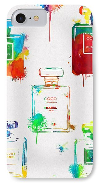 Chanel Perfume Paint Splatter IPhone Case by Dan Sproul