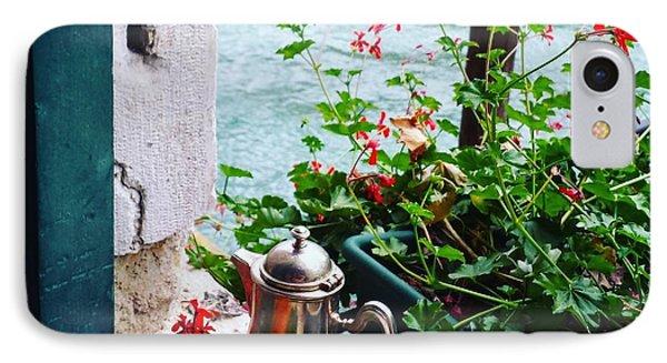 Chanel View Breakfast In Venezia IPhone Case by Tamara Sushko