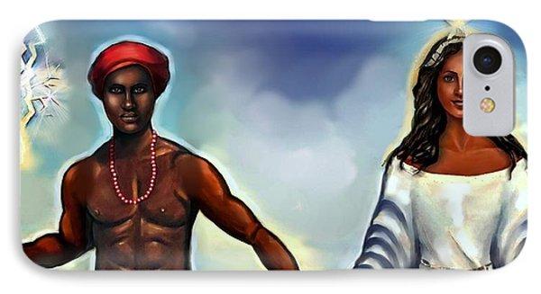 Chango And Yemaya Together IPhone Case by Carmen Cordova