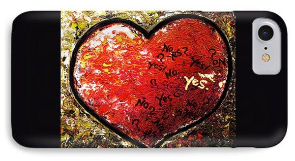 Chaos In Heart IPhone Case by Hiroko Sakai
