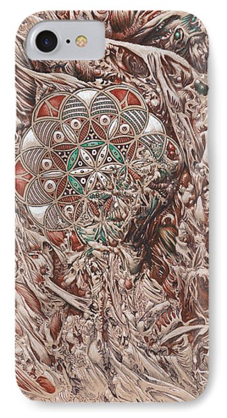 Chaos Mandala IPhone Case by Will Shanklin
