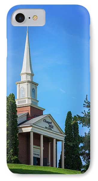 Chapel Hill Golf Course Clubhouse IPhone Case by Tom Mc Nemar