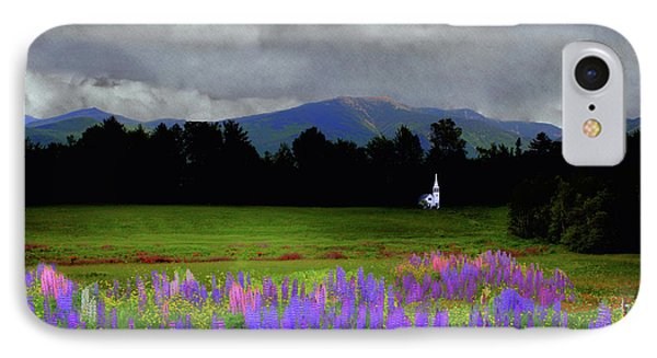 Chapel In The Lupine Mindscape IPhone Case
