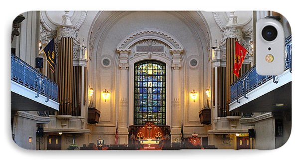 Chapel Interior - Us Naval Academy IPhone Case by Lou Ford
