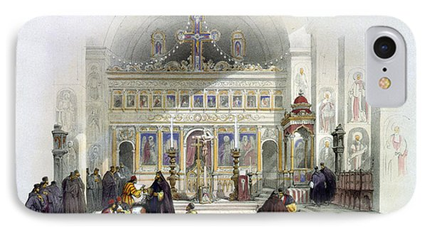 Chapel Of The Convent Of St Saba Phone Case by Munir Alawi