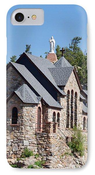 Chapel On A Rock 2 IPhone Case by John Franke