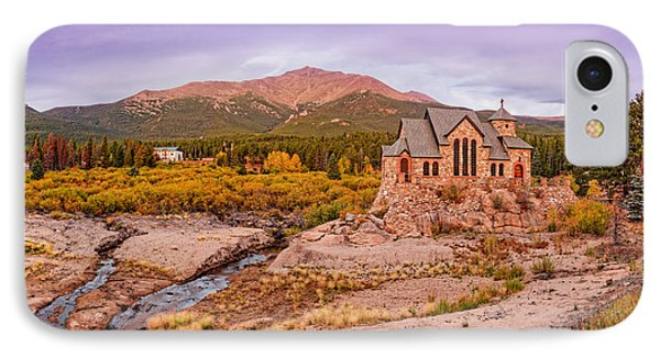 Chapel On The Rock And Long's Peak In The Fall - Peak To Peak Highway Estes Park Colorado IPhone Case by Silvio Ligutti