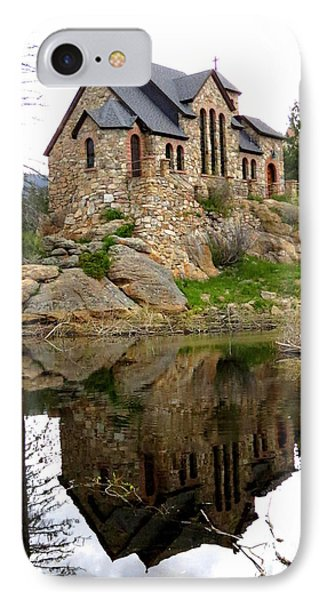 Chapel On The Rocks IPhone Case by Diane M Dittus