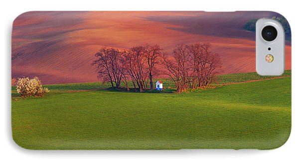 IPhone Case featuring the photograph Chapel St Barbara. Moravian Tuscany by Jenny Rainbow