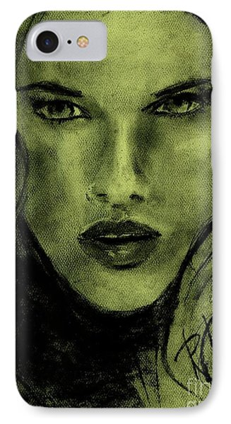 IPhone Case featuring the drawing char-Carol by P J Lewis