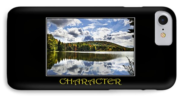 Character Inspirational Motivational Poster Art Phone Case by Christina Rollo
