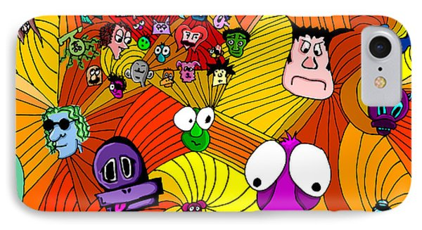 Characters In Color IPhone Case by Jera Sky