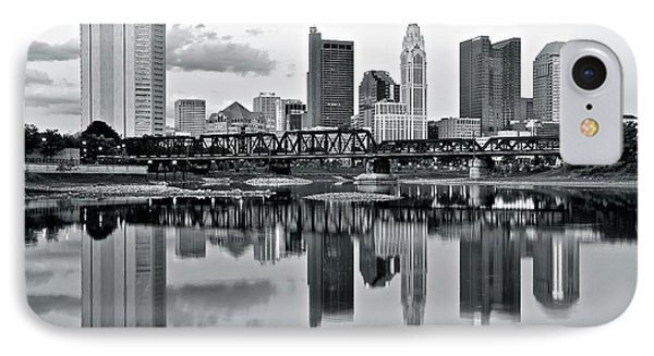 Charcoal Columbus Mirror Image IPhone Case by Frozen in Time Fine Art Photography