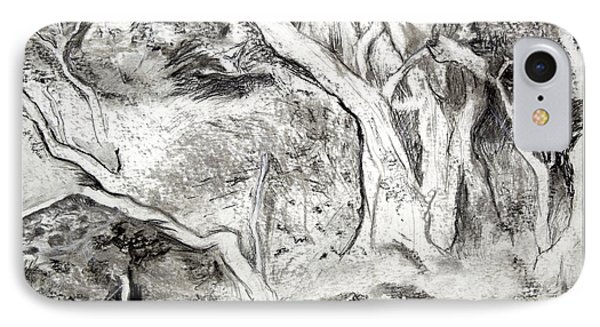 Charcoal Copse IPhone Case