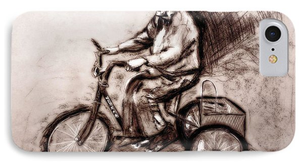 Charcoal Drawing Of Pedal To The Metal By Ayasha Loya IPhone Case by Ayasha Loya