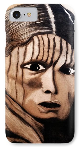 Charcoal Drawing Of White Belly. Sioux. 1900 By Ayasha Loya IPhone Case