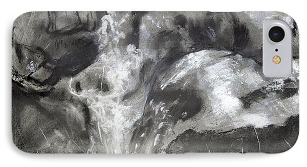 Charcoal Waterfall IPhone Case