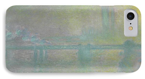 Charing Cross Bridge, London IPhone Case by Claude Monet