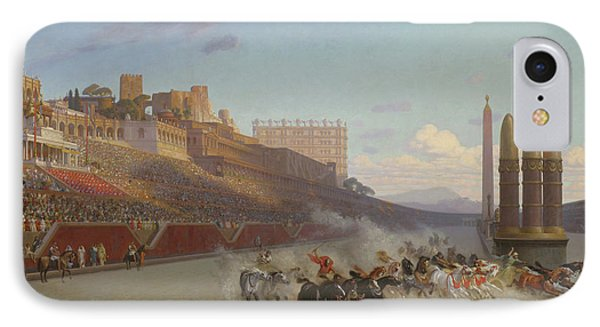 Chariot Race IPhone Case by Jean Leon Gerome