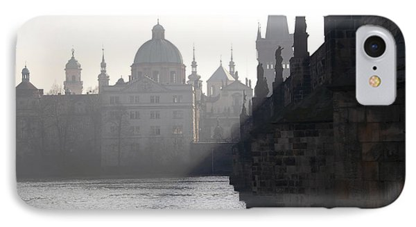 Charles Bridge At Early Morning Phone Case by Michal Boubin