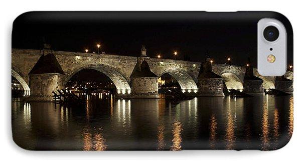 Charles Bridge At Night Phone Case by Michal Boubin