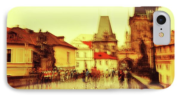 IPhone Case featuring the photograph Charles Bridge. Golden Prague. Impressionism by Jenny Rainbow