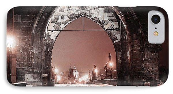 IPhone Case featuring the photograph Charles Bridge In Winter. Prague by Jenny Rainbow