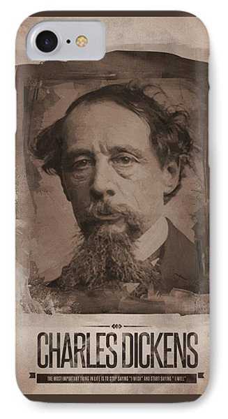 Charles Dickens 01 IPhone Case