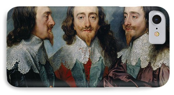 Charles I,  Anthony Van Dyck, 1635 -1636 IPhone Case by Celestial Images