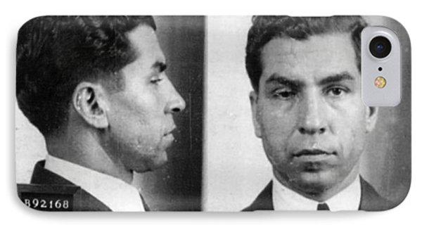 Charles Lucky Luciano Mug Shot 1931 Horizontal IPhone Case by Tony Rubino
