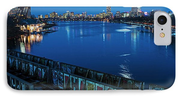Charles River At Dusk Dewolfe Boathouse Boston Skyline IPhone Case by Toby McGuire
