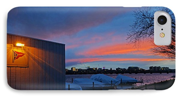 Charles River Boathouse At Sunset Boston Ma IPhone Case by Toby McGuire