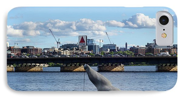Charles River Boston Ma Crossing The Charles Citgo Sign Mass Ave Bridge IPhone Case by Toby McGuire
