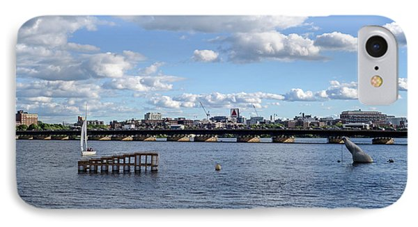 Charles River Boston Ma Crossing The Charles Citgo Sign IPhone Case by Toby McGuire