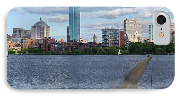 Charles River Boston Ma Crossing The Charles IPhone Case by Toby McGuire