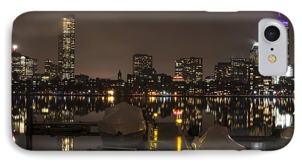 Charles River Rainy Night Clear Reflection Pier IPhone Case by Toby McGuire