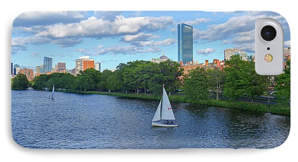 Charles River Sailboat Boston Ma Hancock IPhone Case by Toby McGuire