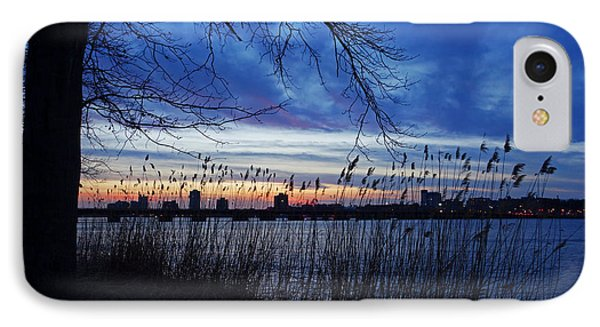 Charles River Sunset Tree Boston Ma IPhone Case by Toby McGuire
