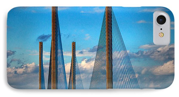 Charles W Cullen Bridge South Approach IPhone Case by Bill Swartwout