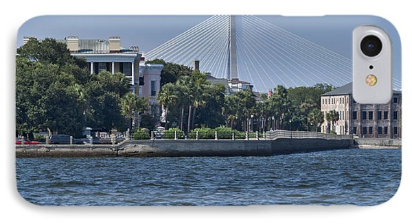 Charleston Battery Row And Bridge  Phone Case by Dustin K Ryan